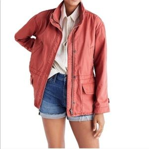 {Madewell} 🔷  Utility Coral jacket